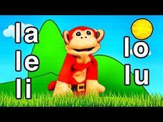 Sílabas la le li lo lu - El Mono Sílabo - Videos Infantiles - Educación para Niños # - YouTube