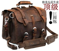 Властный ручной работы мужчина пакет действительно сумочку сумку рюкзак сумасшедший конская пакет сумка сумки бизнес мешки мешок