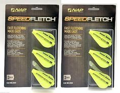 NAP Speedfletch Twister ~ GREEN OR WHITE ~ 6 Pack ~ New ~  Fits Genesis