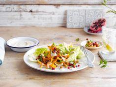 Délicieuse salade réalisée avec l'alternative végétale au Yaourt Nature Alpro!