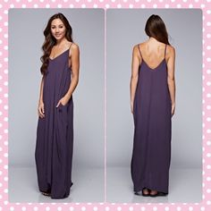 Midnight Purple Maxi Total Boho Look. 100% Rayon. Maxi dress - eggplant, purple. Adjustable Straps & Pockets. Oversized . Comfy . Comfortable. Bohemian. Fashion . Trendy . Love Stitch Dresses