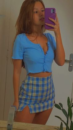 Cute Outfits, Trendy Outfits For Teens, Indie Girl, Aesthetic Girl, Types Of Fashion Styles, Selfies, Vintage Outfits, Mini Skirts, Girly