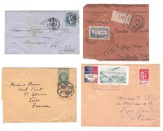 Antique FRENCH LETTERS, ENVELOPES - French Handwriting,Stamps -  Two Digital Downloads, Iron on Transfer,Print,Cards,Wall decor,Textile on Etsy, $2.00