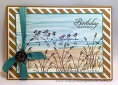Narelle Fasulo - Independent Stampin' Up! Demonstrator - Wetlands and Watercolour technique
