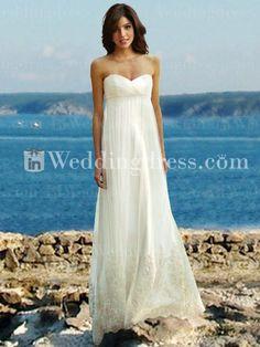 ba280e0c78 Elegant Informal Strapless Empire Waist Bridal Gown BC683