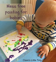 Mess free painting for babies. Zip-Loc bag painting ideal baby play activity Source by katpressing 9 Month Old Baby Activities, Toddler Learning Activities, Infant Activities, Learning Games, Kids Learning, Baby Sensory Play, Baby Play, Baby Kids, Baby Painting