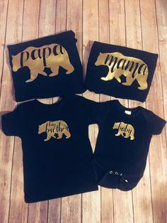 Oso oso de camisas/camisetas/Mamá Osa/Papá Oso Juegos Big