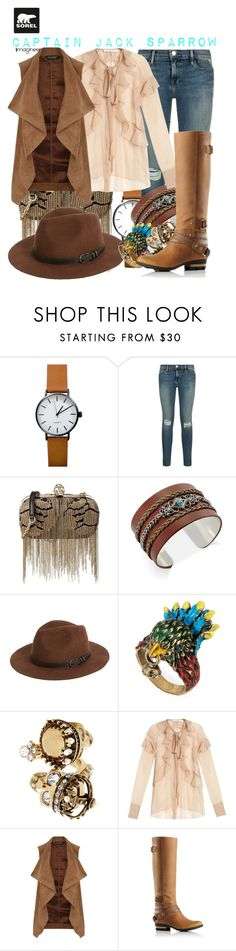 """""""Tame Winter with SOREL: Captain Jack Sparrow (Pirates of the Caribbean: Dead Man's Chest)"""" by claucrasoda ❤ liked on Polyvore featuring Alexander McQueen, SOREL, Sole Society, Gucci, Givenchy, Dorothy Perkins and sorelstyle"""