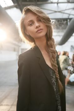 Thick Side Braid for Long Hair