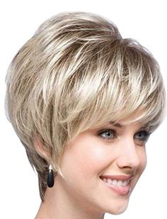 Tsnomore Chic Blond with Black Root Short Women Bob Wig ** Learn more by visiting the image link.