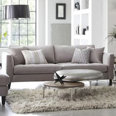 Nesting tables: the stylish alternative to an ottoman or coffee table. Metallic and walnut pair up for a glam look and feel. Nebraska Furniture Mart, Ottoman, Furnishings, Nesting Tables, Furniture, Living Room Bedroom, Home Decor, Living Spaces, Bedroom Furniture