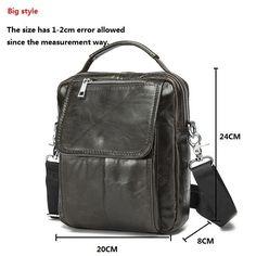 Genuine leather men bag small shoulder bags men messenger bags crossbody bag men leather handbag - Bolsa para Hombres