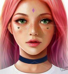 Digital Art digital art apps for ipad Digital Art Anime, Digital Art Girl, Digital Portrait, Portrait Art, Girly Drawings, Realistic Drawings, Pretty Art, Cute Art, Dibujos Tumblr A Color