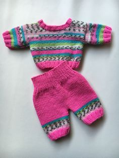 Knitting Dolls Clothes, Crochet Doll Clothes, Crochet Dolls, Knit Crochet, Baby Born Clothes, Build A Bear, Kids Wear, Mary, Pullover