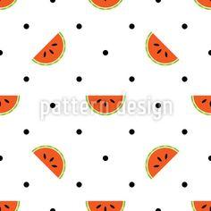 Watermelon Polka Dot Repeating Pattern Repeating Pattern by Elena Alimpieva at patterndesigns.com
