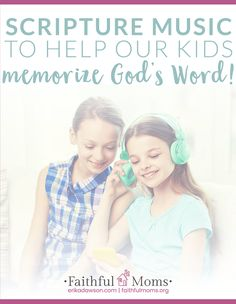 One of the easiest {and most fun!} ways to memorize God's Word is through music! Check out this great list of Scripture music for kids! Bible Verse Memorization, Bible Verses, Bible Quotes, Christian Kids, Our Kids, Help Kids, Music For Kids, Christian Parenting, Teaching Kids