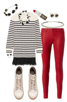 """""""Baby it's cold...out...side"""" by momma2theking on Polyvore featuring H&M, L'Agence, RED Valentino, Claudio Riaz and Chanel"""