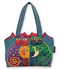 Celestial Felines Medium Tote - I really like the colors in this handbag (so colorful and fun!).