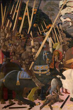 Paulo Uccello - Battle of San Romano (detail) circa 1450′s.