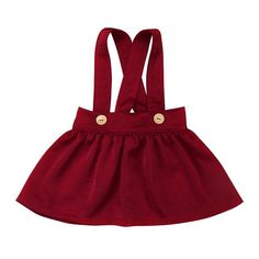 Basic Little Button Overall Skirt from kidspetite.com!  Adorable & affordable baby, toddler & kids clothing. Shop from one of the best providers of children apparel at Kids Petite. FREE Worldwide Shipping to over 230+ countries ✈️  www.kidspetite.com  #newborn #girl #baby #infant #skirts