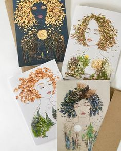 Sending flowers takes on a whole new meaning with these unique greeting cards! Flower Prints, Flower Art, Audrey Hepburn Art, The Giving Tree, Bohemian Art, Gift For Lover, Unique Art, Original Art, Crafts For Kids