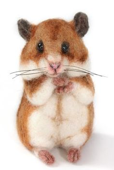Needle Felted Hamster by Stevi T's Alpaca Encounters by carol.bogdan.3. I want three for Christmas