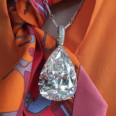 Spectacular!! 56.03 carat D VVS2 (potentially flawless) type IIa diamond, necklace by Chopard. Estimate $5-7m. From our Magnificent Jewels auction in Geneva, 17 May. (Part of our travelling highlights on view at Christie's Hong Kong 30 March to 2 April). @christiesjewels @christiesinc #christiesjewels #christiesinc #christies #magnificentjewels #diamond #pendant #necklace @hermes #hongkong #geneva