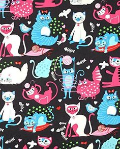 Cat Fabric - Nicole's Prints - Whiskers - Smoke - 100% Cotton - By the Yard Alexander Henry http://www.amazon.com/dp/B01BK1LHDQ/ref=cm_sw_r_pi_dp_Dxc7wb1JDB0HW