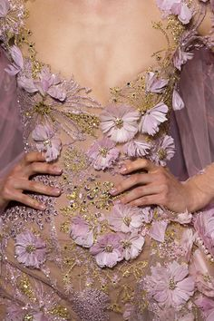 Elie Saab Haute Couture Fall 2016 #details                                                                                                                                                                                 More