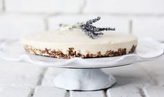 Lavender and honey cheese cake.