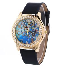 f9c864315f54 Always be on time and in style with this stunning Tree of Life quartz watch  with