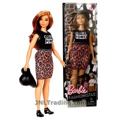 Barbie Year 2016 Fashionistas Series 12 Inch Doll - Curvy Hispanic BARBIE in Lovin' Leopard Girl Power Dress with Black Hat New Barbie Dolls, Barbie 90s, Barbie Costume, Barbie Fashionista Dolls, Barbie Doll House, Barbie Dress, Girl Barbie, Barbie Cake, Diy Barbie Clothes