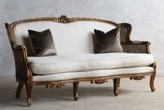 French Antiques & French Country Decor and Luxury Gifts for Home and Garden . Wicker Sofa, Sofa Chair, Cane Furniture, Vintage Furniture, French Sofa, Sofa Styling, Classic Sofa, Settee, Apartment Interior