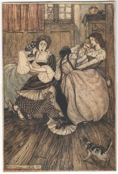 Arthur Rackham 'And the Maids cried ''Good Gracious!'' ' illustration, 1907 | eBay