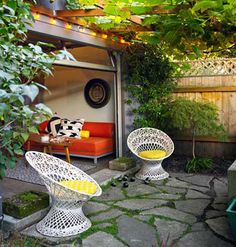 Dwellers Without Decorators: Monday Morning Inspiration - Garage Makeover // chairs