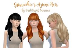 Grimcookie's Ariana hair recolors at Deeliteful Simmer • Sims 4 Updates