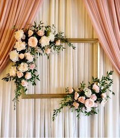 Try something special with these dusty rose wedding ceremony backdrop with blush. Try something special with these dusty rose wedding ceremony backdrop with blush and white flowers, spring weddings, sum. Wedding Ceremony Backdrop, Wedding Stage, Wedding Backdrops, Wedding App, Wedding Photo Props, Backdrops For Parties, Wedding Photoshoot, Wedding Shoot, Wedding Reception