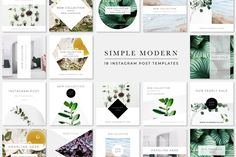 Simple Modern Instagram Pack by Bold Leap Creative on @creativemarket
