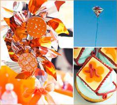 Orange Kites Birthday