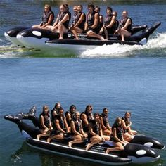 Whale Ride Towable Water Tube 10 Passenger Side By Side for $1,649 #TowableTubes #CozyDays