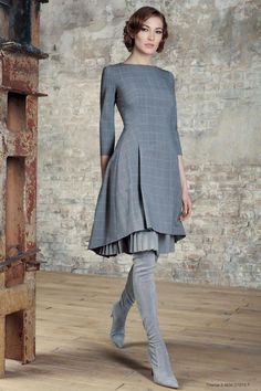 21 trendy how to dress outfits Full Skirt Outfit, Dress Skirt, Dress Outfits, Fashion Dresses, Prom Dresses With Pockets, Straps Prom Dresses, Warm Dresses, Winter Dresses, Mode Tartan