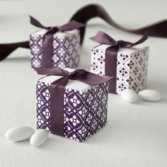 Celebrate It™ Occasions™ Reversible Favor Boxes, Eggplant