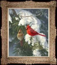 "Original Wild Animal Bird Oil painting art on canvas 20""x24"""