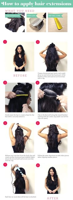 How To Clip In Hair Extentions. Still need help. Ill show you. Here at salon kismet.