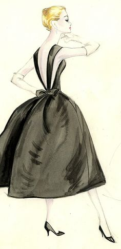 Givenchy. Bergdorf Goodman Archives. http://www.pinterest.com/garlandy/fashion-sketch/
