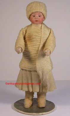 Bisque Head Doll Candy Container French German 1920 | eBay