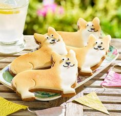 These Royal Corgi marzipan biscuits from Betty's Cafe Tea Rooms in Yorkshire are the perfect regal treat @Bettys1919
