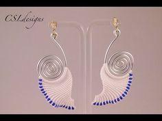 Angelic wire and macrame earrings - YouTube