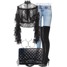 Untitled #2719 by highfashionfiles on Polyvore featuring Rodarte, H&M, Balenciaga, Chanel and Rolex
