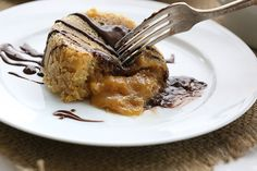 Ooey gooey and healthy! Low carb keto Peanut Butter Lava Cake.